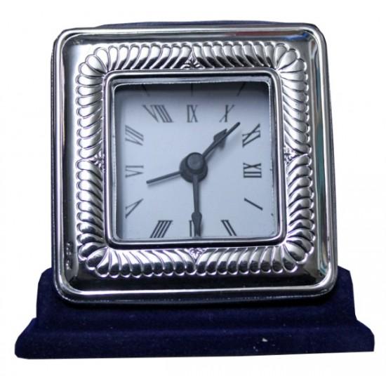 Ασημένιο ρολόι - κορνίζα