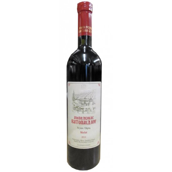 Αμπελώνας Βατοπαιδίου - οίνος ερυθρός ξηρός Merlot
