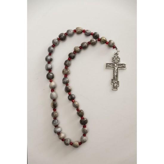 Δάκρυ Παναγίας για προσευχή με μεταλλικό σταυρό