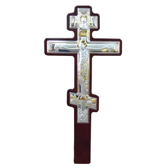 Επιτοίχιος επάργυρος σταυρός